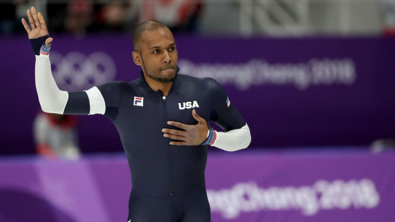 On his final Olympic run in Pyeongchang, 35-year-old speedskater Shani Davis acknowledged the crowd, who supported him throughout the 1,000-meter race. In the event, where he holds the world record, he placed seventh.