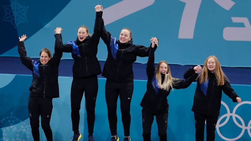 The Swedish women won the gold medal in the final match of a marathon curling festival, beating South Korea 8-3 in nine ends. The silver was the Olympic hosts' first medal in the sport.