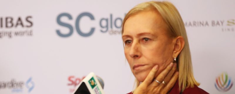 Martina Navratilova still believes that 'male voices are valued more than women's voices'.