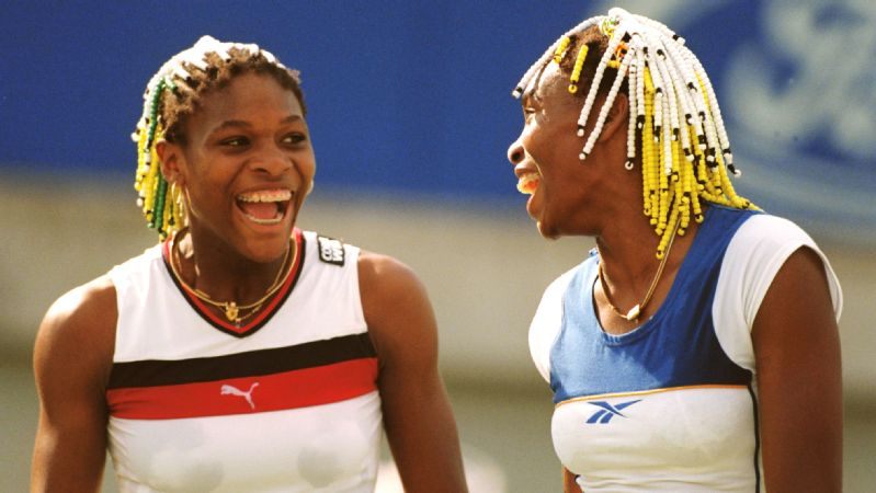 Young Venus Williams (right) and sister Serena Williams.
