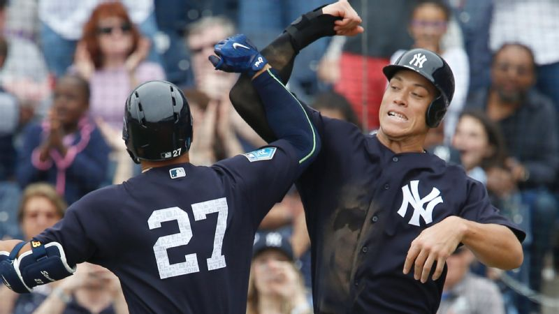 Between Giancarlo Staton and Aaron Judge, it's time to get psyched for baseball season.