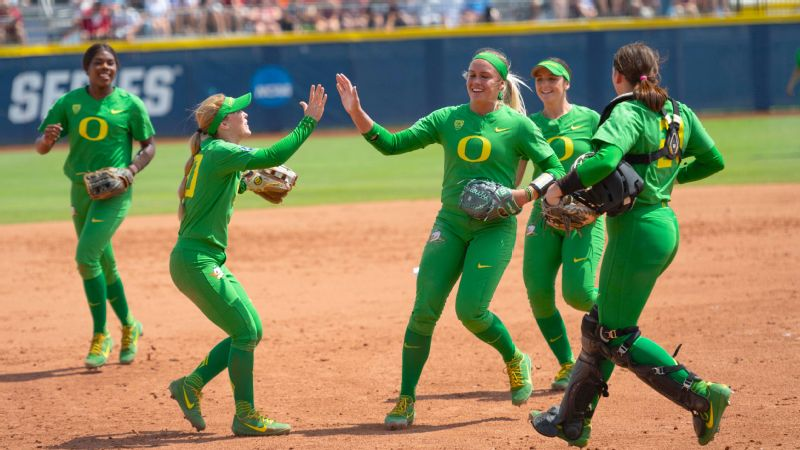 Top-seeded Oregon had an answer for every Arizona State challenge in the Thursday opener of the Women's College World Series.