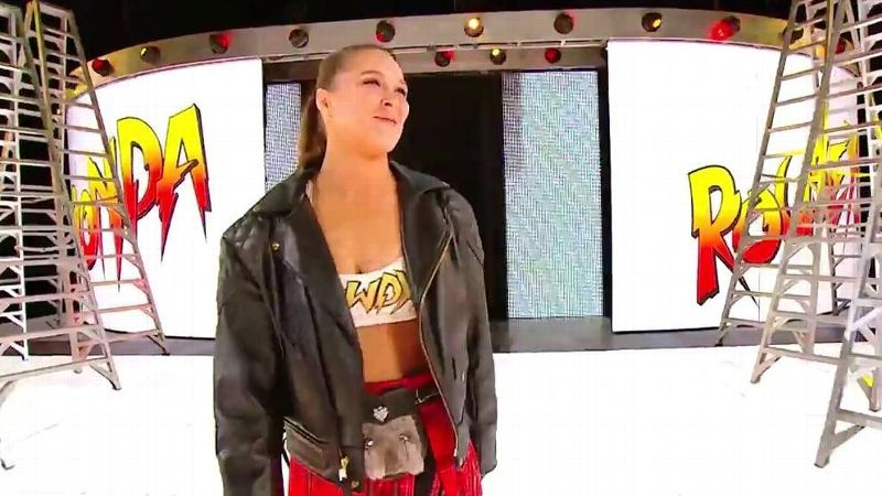 Ronda Rousey faced Nia Jax in her first singles match in the WWE.