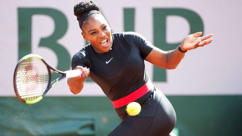 Catsuit worn by Serena Williams' banned by French tournament officials