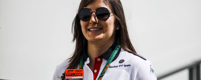 Tatiana Calderon is a development driver for Sauber and races in F1 support series GP3.