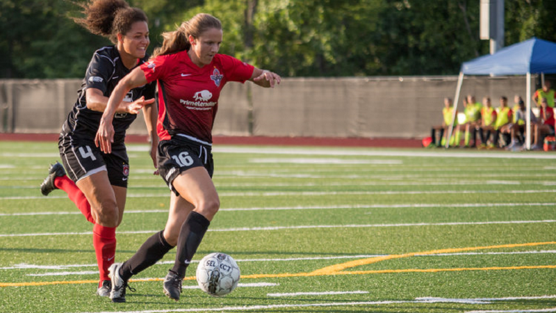 Kailey Utley plays for the Fire and Ice SC of the Women's Premier Soccer League. The team won the league championship in 2017.