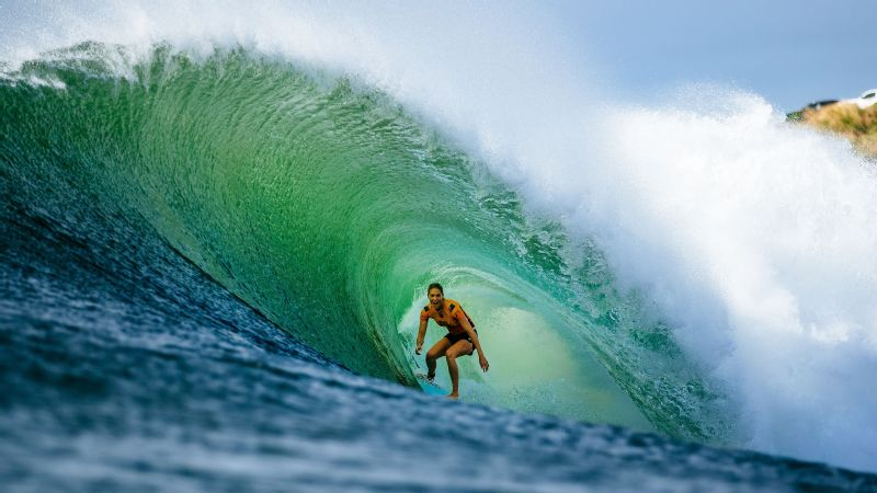 Steph Gilmore of Australia won her seventh world championship Monday after the second round of the Maui Pro.