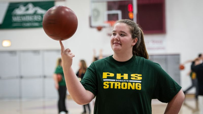 Fiona Roberts, a senior at Paradise High School, is grateful to be back playing basketball.