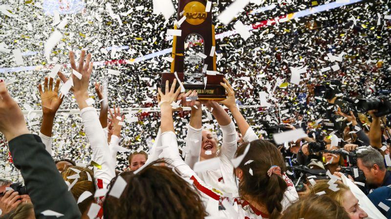 Stanford volleyball celebration