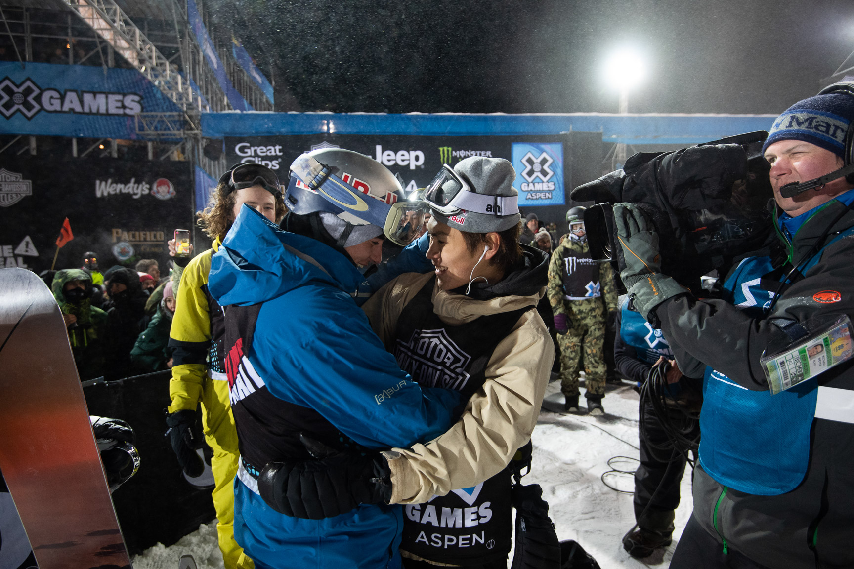 Mark McMorris and Takeru Otsuka, M's Snowboard Big Air Final