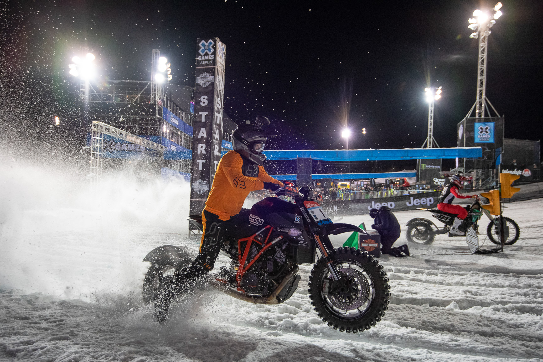 Travis Whitlock & Logan Mead, Harley-Davidson Snow Hill Climb
