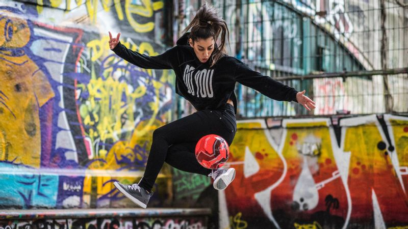 Lisa Zimouche, 19, is one of the most visible and influential talismans in soccer's freestyle subculture.