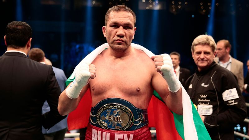 Kubrat Pulev of Bulgaria celerate after defeating Dereck Chisora at Barclaycard Arena on May 7, 2016 in Hamburg, Germany.