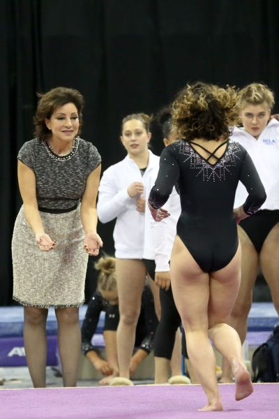 For Katelyn Ohashi (back to camera), Kondos Field was instrumental in helping her enjoy the sport again.