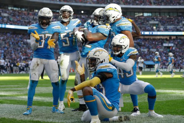 8c8bdd577ba The Chargers' iconic powder blue jerseys date back to the team's inaugural  1960 season in