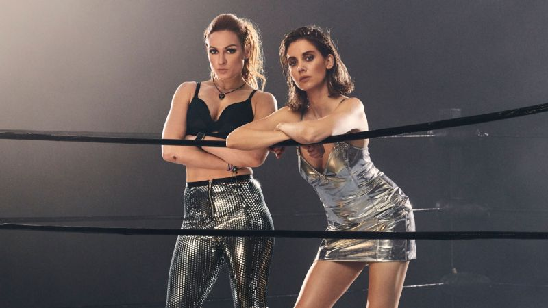 WWE Raw women's champion Becky Lynch, left, and the star of Netflix's GLOW, Alison Brie, were photographed for the cover of ESPN The Magazine's Blockbuster issue.