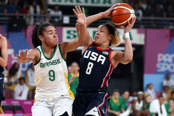 Chennedy Carter had 16 points for the U.S. women's basketball team, which took home a silver medal at the Pan Am Games.