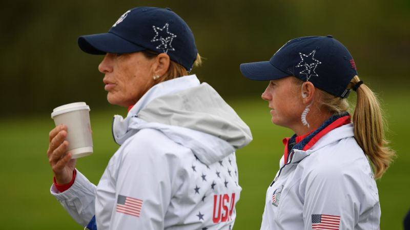 Juli Inkster and Stacy Lewis