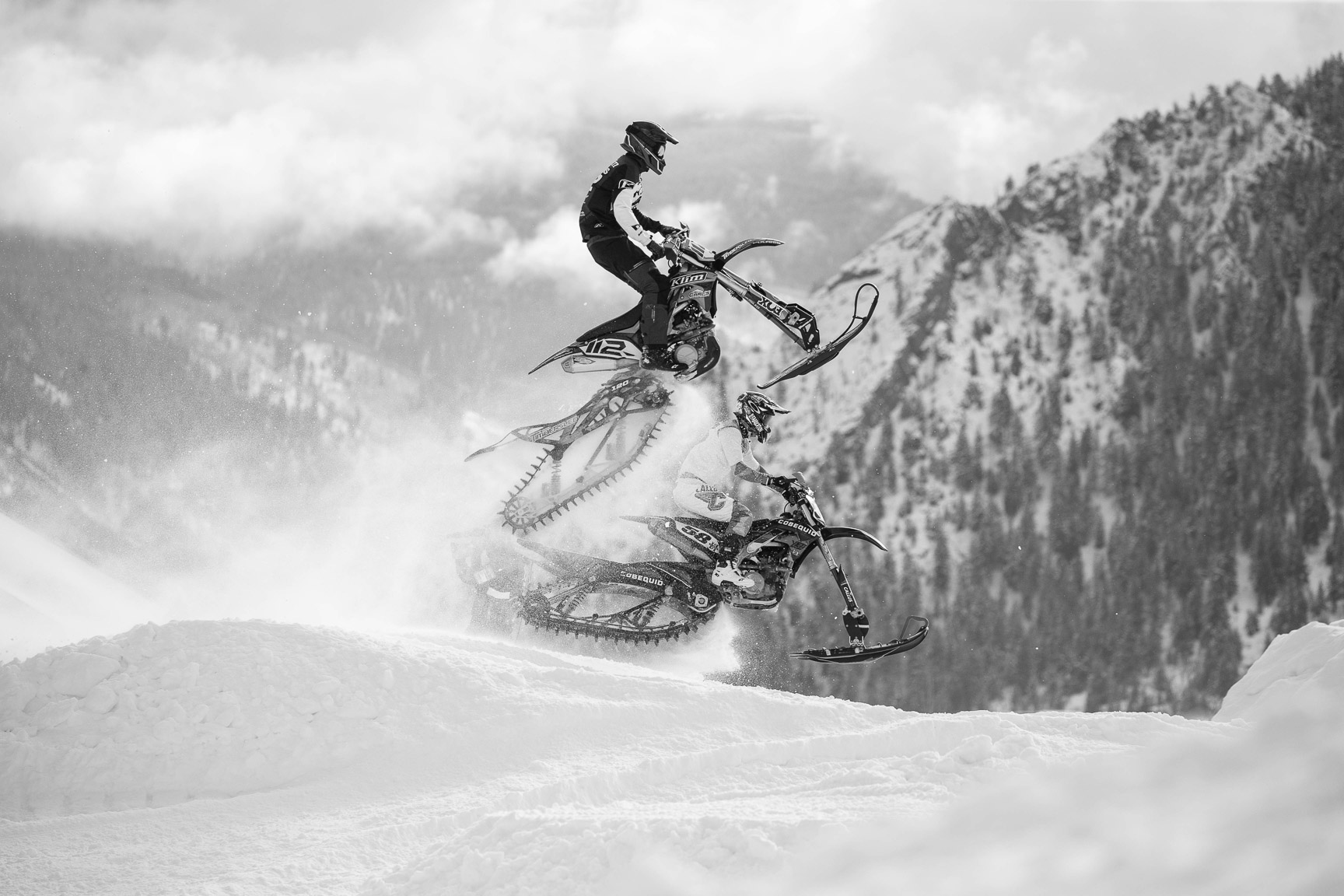 Mitch Cooke and Justin Thomas, Snow BikeCross