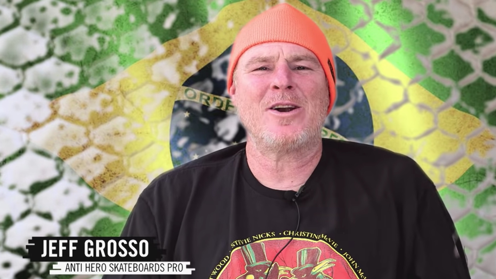 Jeff Grosso, seen here hosting a Love Letters To Skateboarding segment for ESPN's World of X Games, died Tuesday, March 31, 2020.