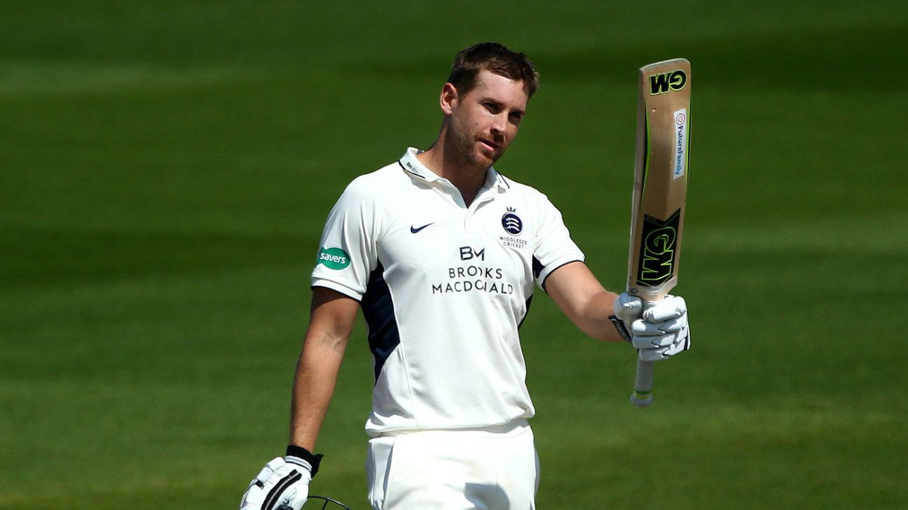Middlesex collapse after hundreds for Nick Gubbins and ...