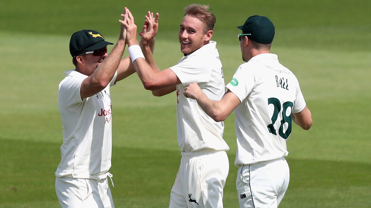 Stuart Broad extends Nottinghamshire contract to 2022