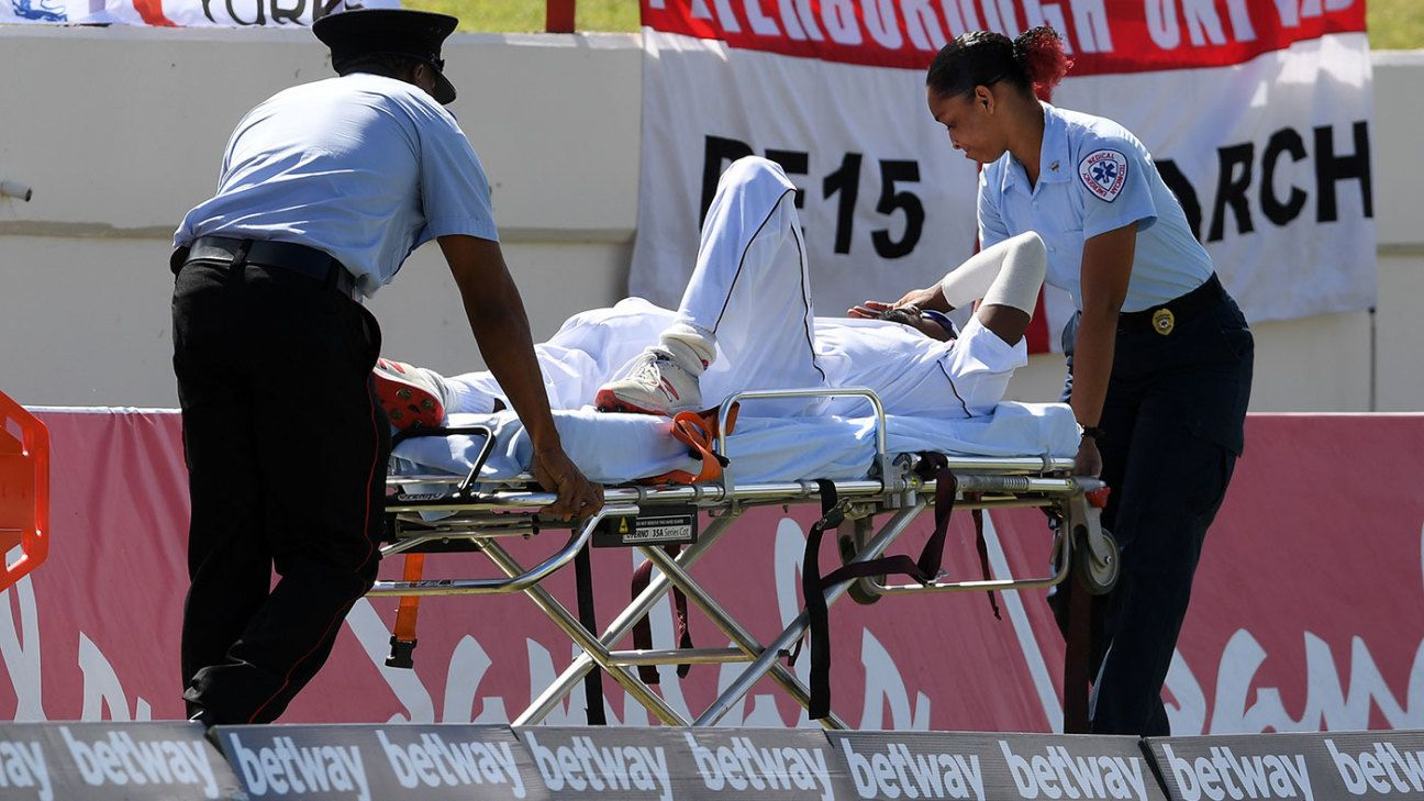 Keemo Paul stretchered from field after suffering quadriceps injury