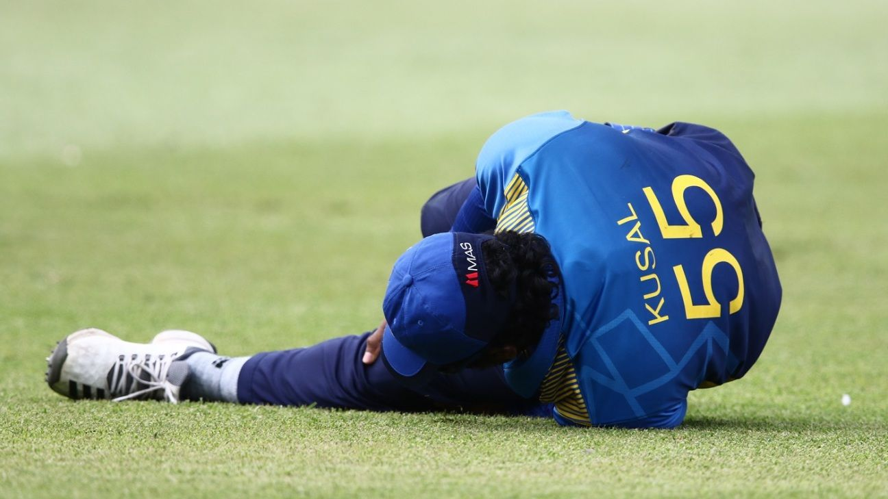 Kusal Perera out of South Africa ODIs with hamstring injury