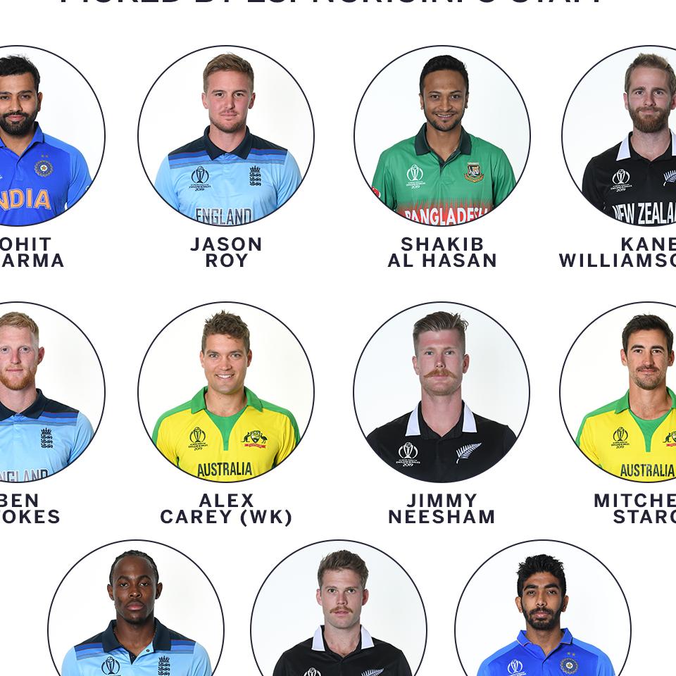 Starc, Archer, Ferguson, Bumrah in ESPNcricinfo's 2019 World Cup XI
