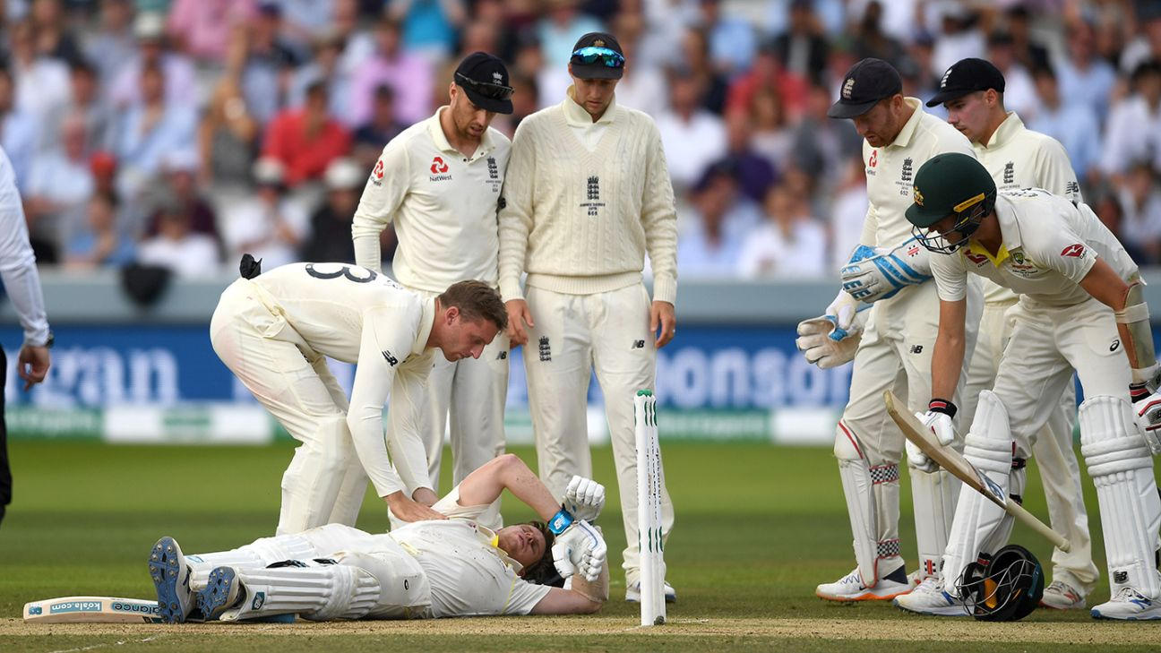 Steven Smith blow brings cricket to a standstill