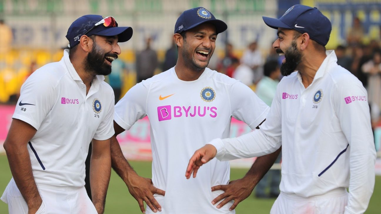 Shami in top ten for bowlers, Agarwal up to No. 11 among batsmen