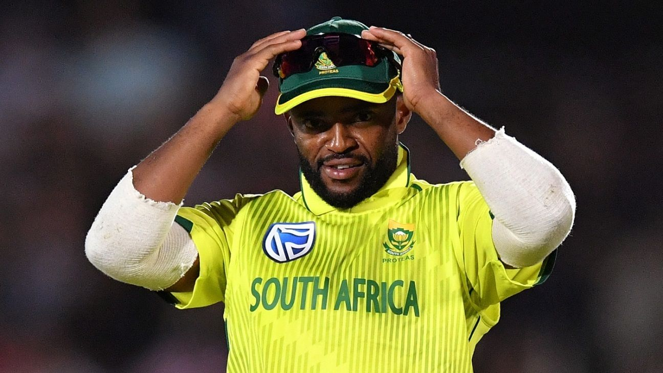 Temba Bavuma ruled out of first Australia T20I with hamstring strain | ESPNcricinfo.com - ESPNcricinfo