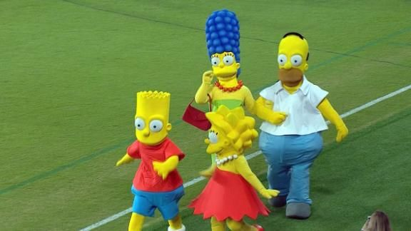 Los Simpsons presentes en la Florida Cup - ESPN Video