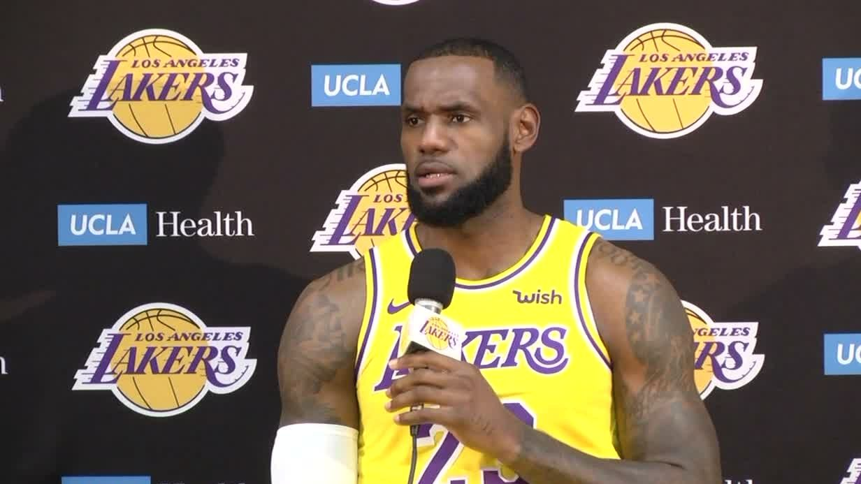 7b1c6c4a63c LeBron says Lakers have 'long way to go' to beat Warriors - ESPN Video