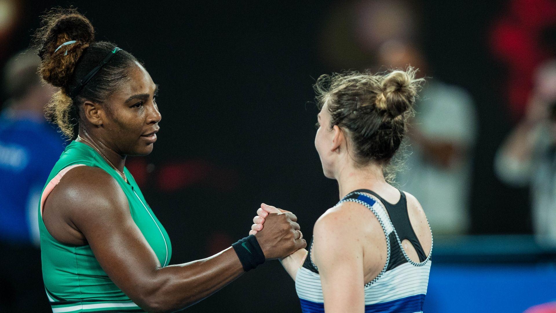 Serena Williams outlasts No. 1 seed Simona Halep to advance