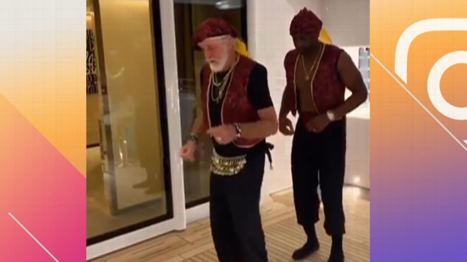 Wade, Riley dance while dressed as Aladdin - ESPN Video