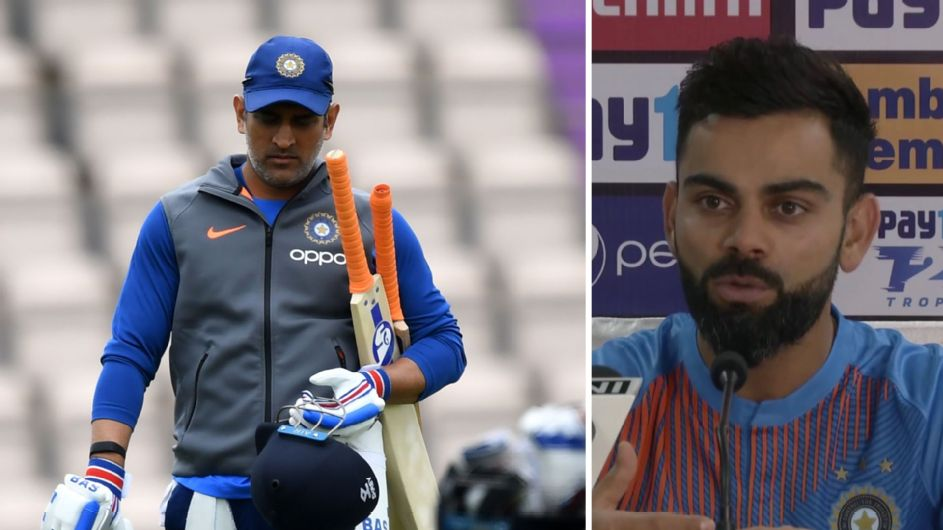 Dhoni - present and absent in Kohli's India
