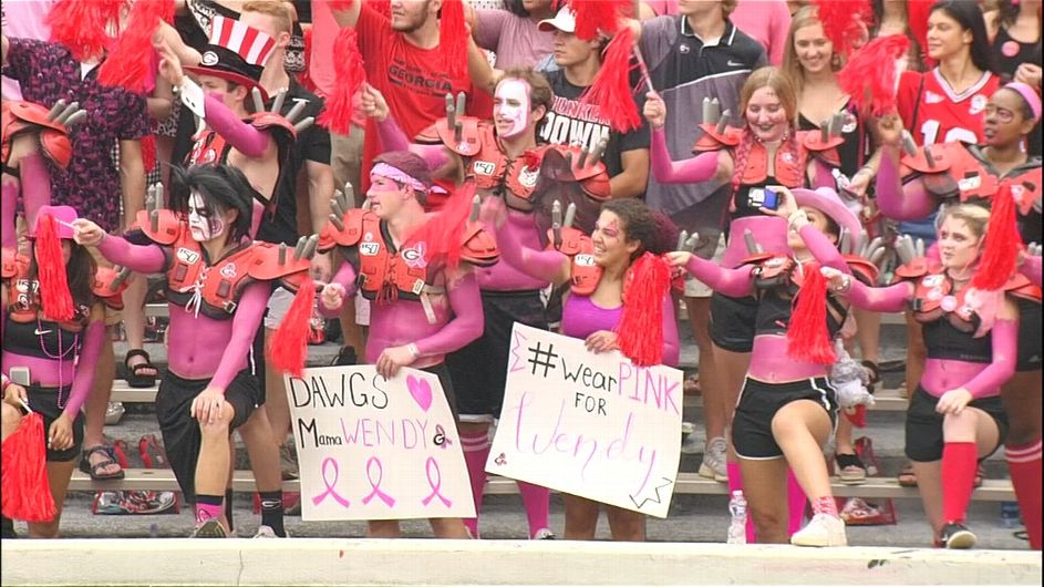 Anderson stirred by UGA pink out: 'Overwhelmed'