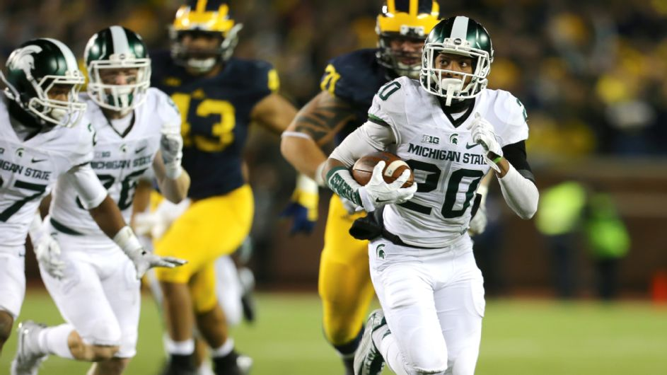 On this date: Michigan State stuns Michigan on flubbed punt - ESPN Video