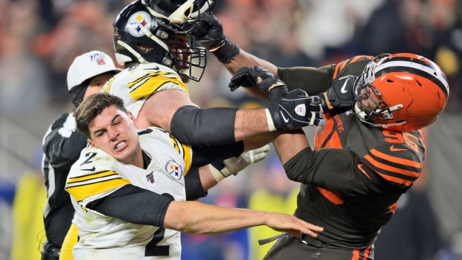 NFL finds 'no such evidence' of Mason Rudolph directing racial slur at Myles Garrett