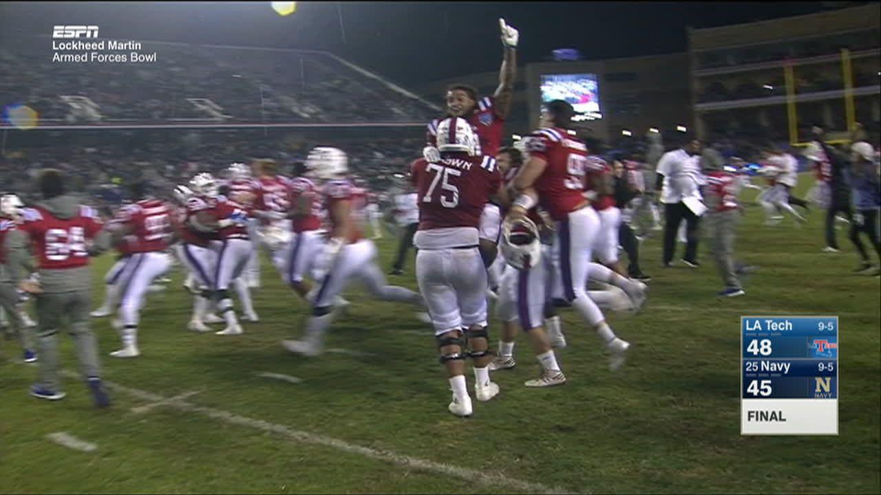 f1492f6fa LA Tech wins wild Armed Forces Bowl on last-second FG - ESPN Video