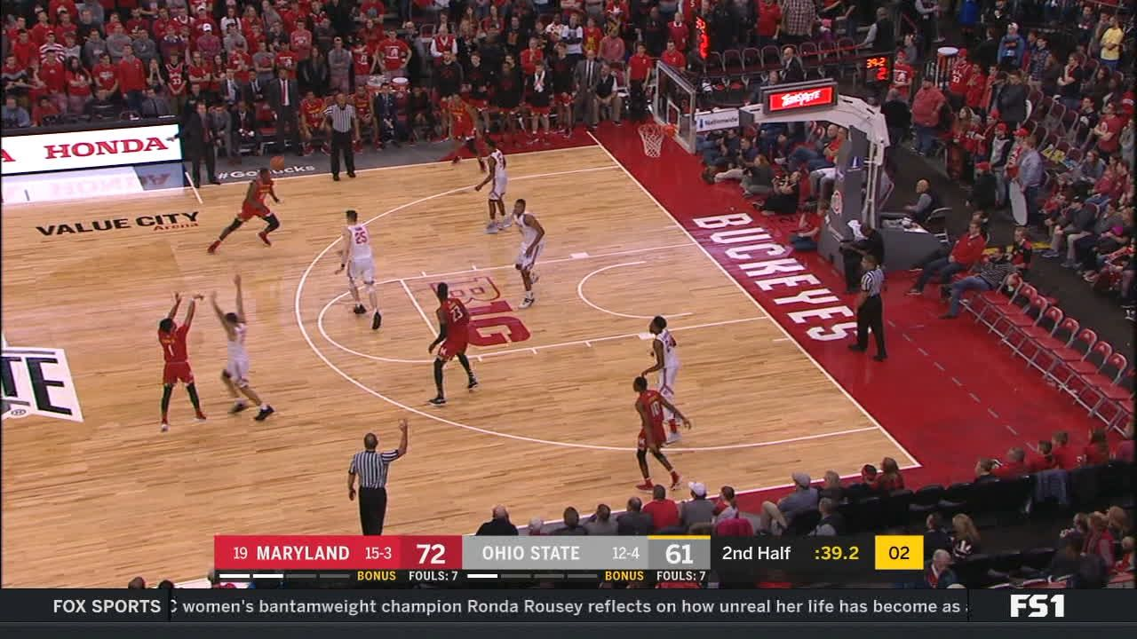 Cowan hits from near the half-court logo - ESPN Video
