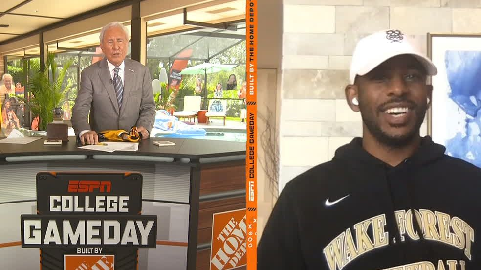 Lee Corso Trolls Chris Paul While Making His Clemson Wake Forest Pick Espn Video