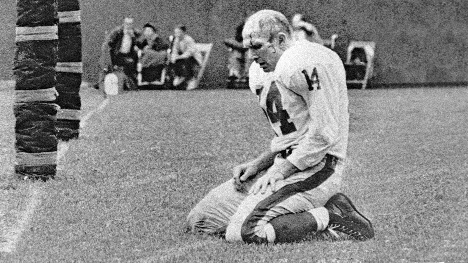 Image result for Y.A. Tittle bloody