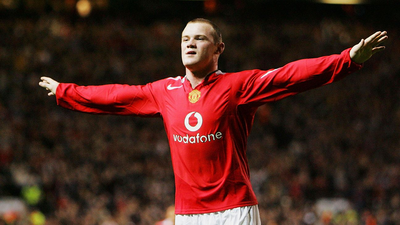 Wayne Rooney scored a hat-trick in his Manchester United debut.
