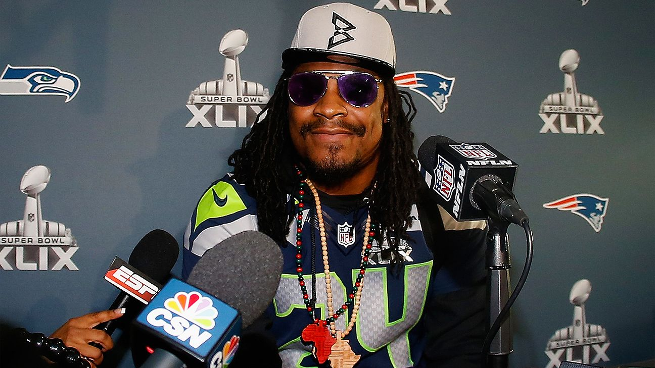 6ef970ccd Marshawn Lynch of Seattle Seahawks files for trademark to Super Bowl media  day quote