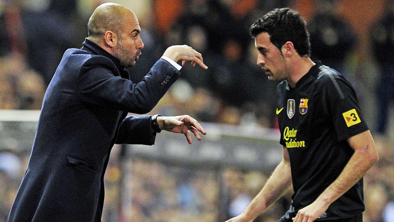 Sergio Busquets Pep Guardiola will not coach Barcelona again