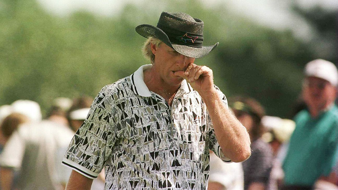 how sports science explains greg norman u0026 39 s 1996 masters