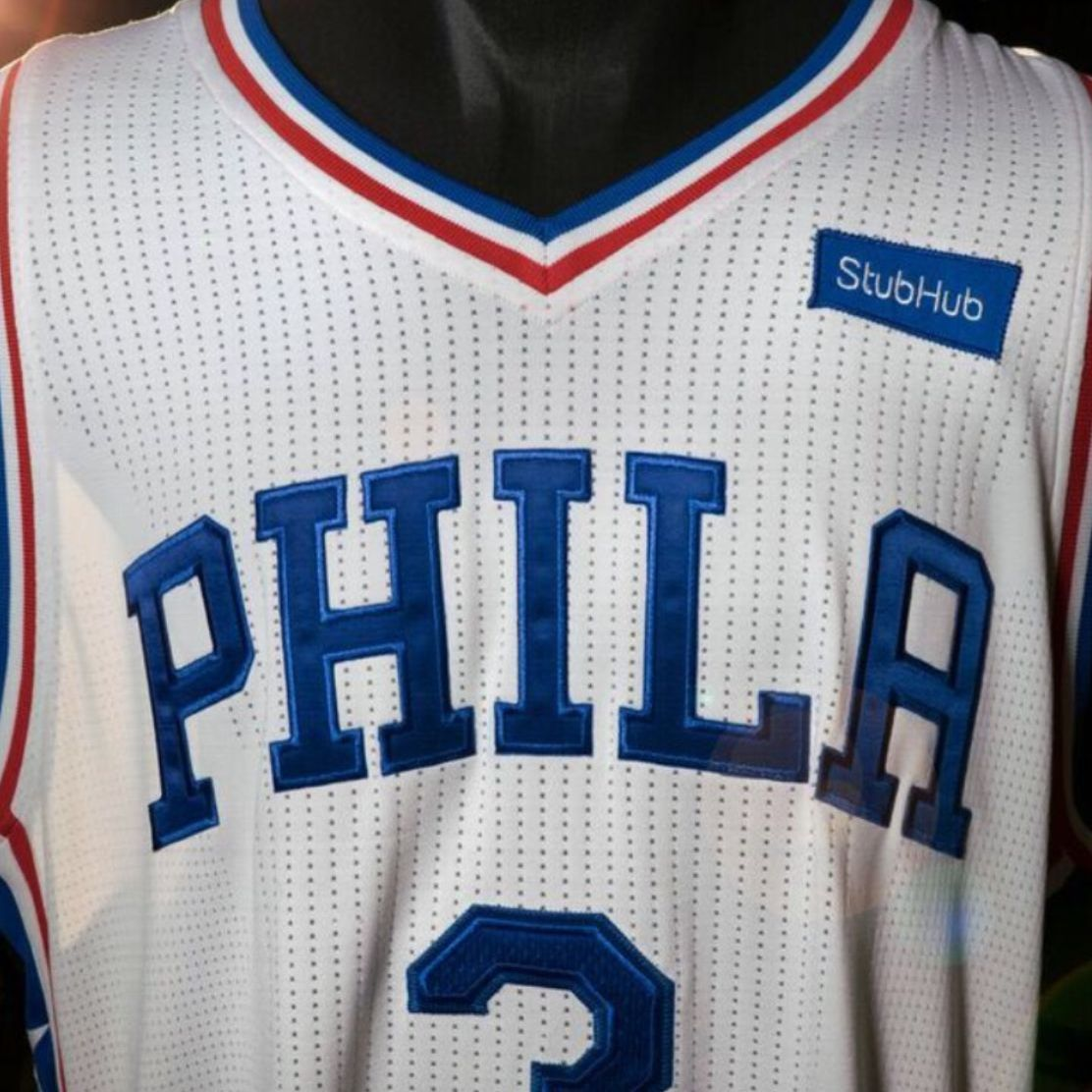 best service c87b2 22817 Philadelphia 76ers sell first NBA jersey advertisement to ...
