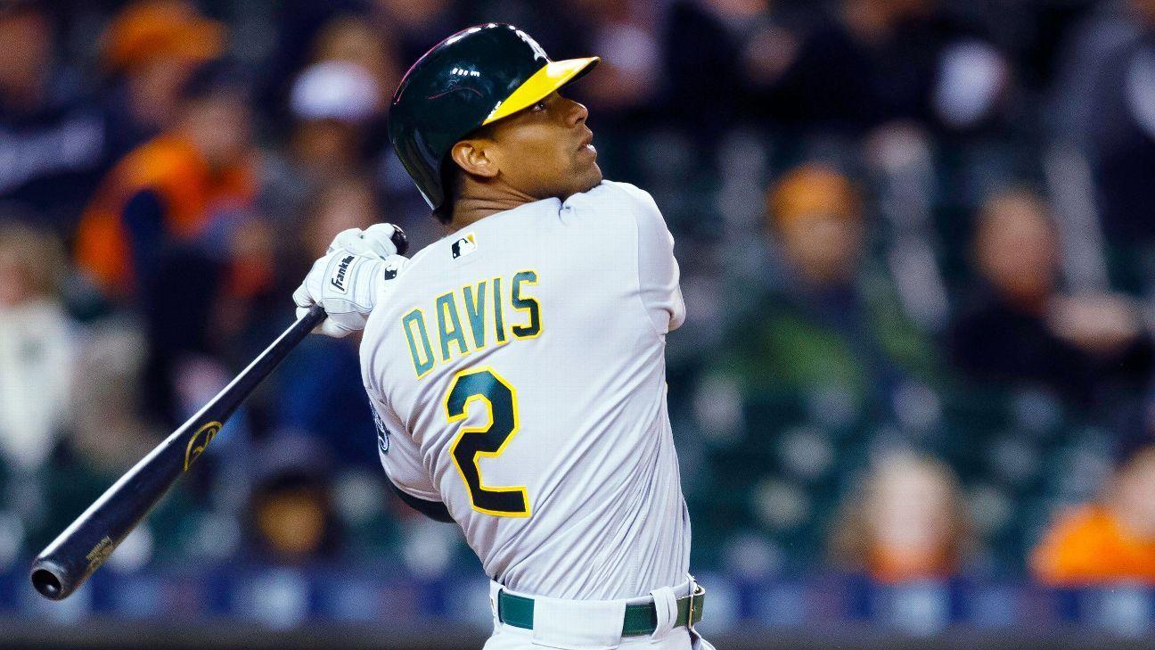A's change plans, don't put Davis on IL for now